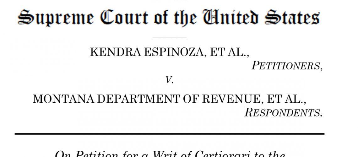 Espinoza v. Montana Department of Revenue americhicks