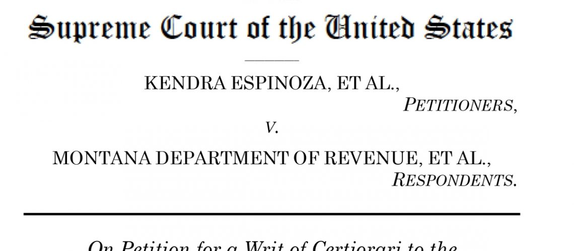 Espinoza v. Montana Department of Revenue americhicks