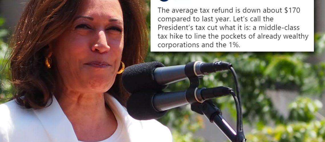 kamala harris wrong about trump tax cuts americhicks